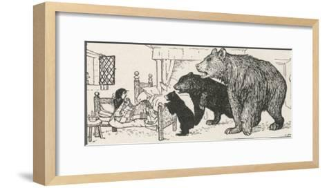 Goldilocks is Found in Baby Bear's Bed by the Three Bears-Henry Justice Ford-Framed Art Print