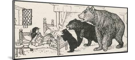 Goldilocks is Found in Baby Bear's Bed by the Three Bears-Henry Justice Ford-Mounted Giclee Print
