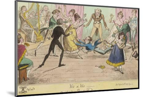 Accidents in Quadrille Dancing Mishaps to Avoid on the Dance Floor-George Cruikshank-Mounted Giclee Print