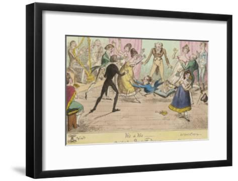 Accidents in Quadrille Dancing Mishaps to Avoid on the Dance Floor-George Cruikshank-Framed Art Print