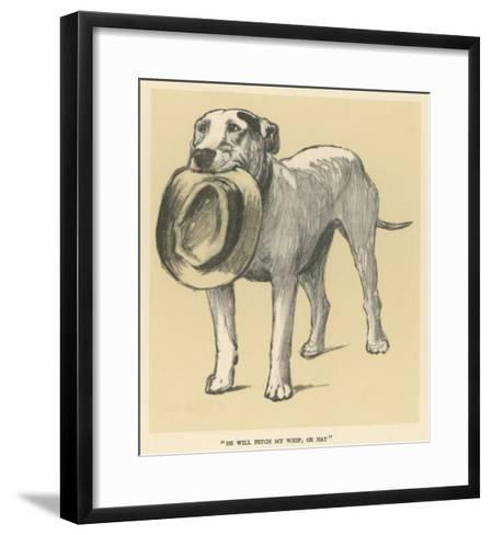 Dog Trained to Fetch His Master's Hat-Cecil Aldin-Framed Art Print