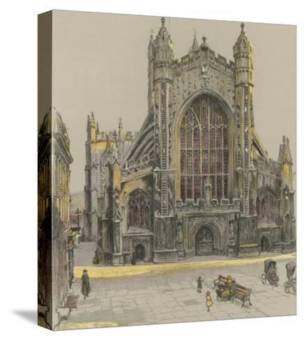 Bath Abbey-Cecil Aldin-Stretched Canvas Print