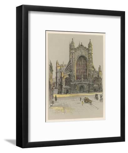 Bath Abbey-Cecil Aldin-Framed Art Print