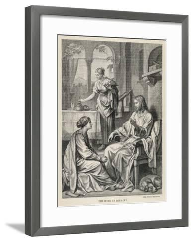 Jesus Talks with Mary While Martha Does Housework-Heinrich Hofmann-Framed Art Print