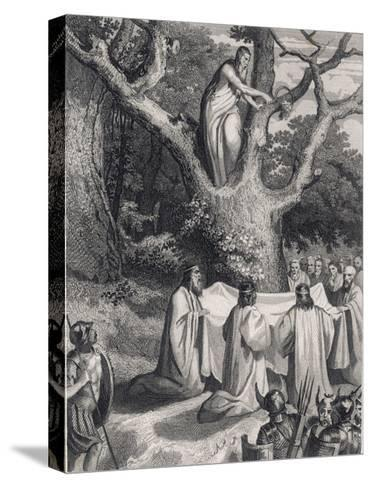 Druids Cut the Sacred Mistletoe- Jeanron-Stretched Canvas Print