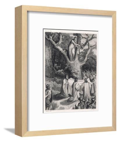 Druids Cut the Sacred Mistletoe- Jeanron-Framed Art Print