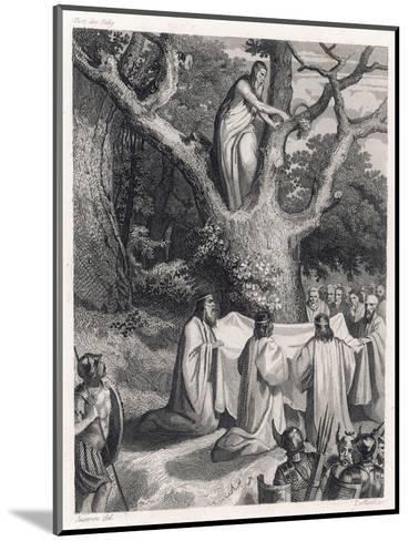 Druids Cut the Sacred Mistletoe- Jeanron-Mounted Giclee Print