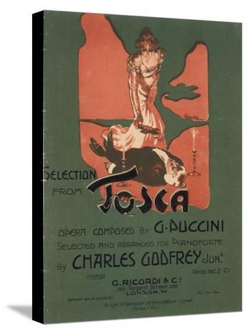 Tosca, the Death of Scarpia-Adolfo Hohenstein-Stretched Canvas Print