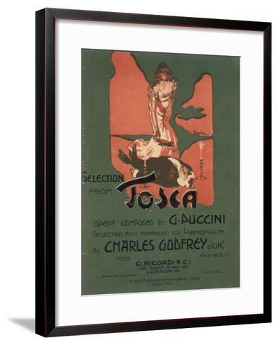 Tosca, the Death of Scarpia-Adolfo Hohenstein-Framed Art Print