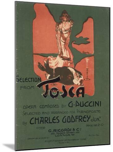 Tosca, the Death of Scarpia-Adolfo Hohenstein-Mounted Giclee Print