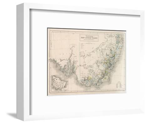 Victoria New South Wales South Australia-W^ Hughes-Framed Art Print