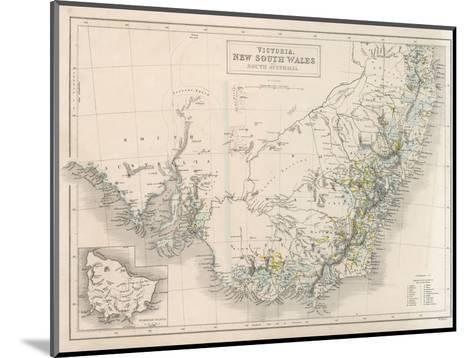 Victoria New South Wales South Australia-W^ Hughes-Mounted Giclee Print