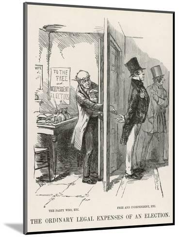 The Ordinary Legal Expenses of an Election-John Leech-Mounted Giclee Print