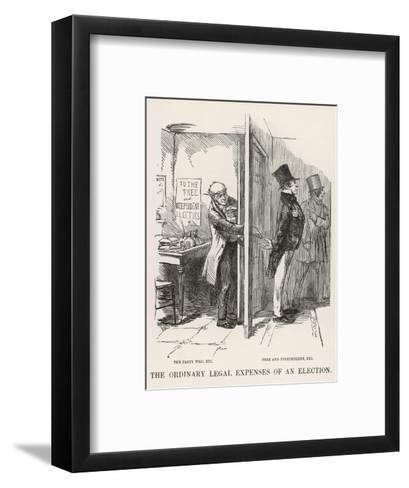 The Ordinary Legal Expenses of an Election-John Leech-Framed Art Print