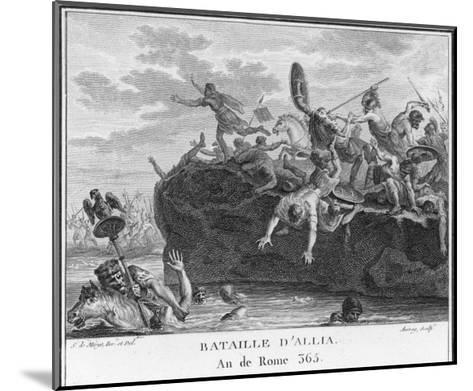 The Gauls Defeat the Romans on the River Allia-Augustyn Mirys-Mounted Giclee Print