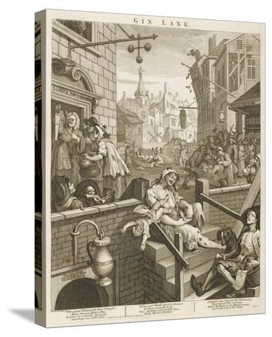 Political Prints Supporting a Ministerial Measure Against the Unlimited Sale of Gin-William Hogarth-Stretched Canvas Print
