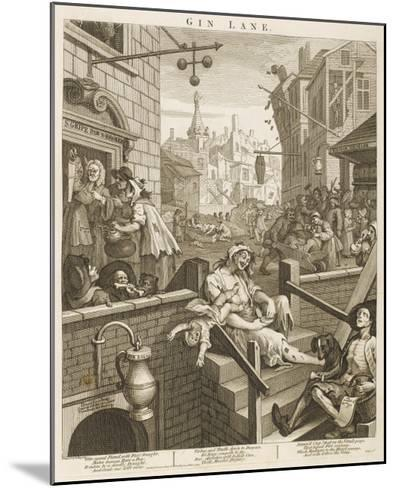 Political Prints Supporting a Ministerial Measure Against the Unlimited Sale of Gin-William Hogarth-Mounted Giclee Print