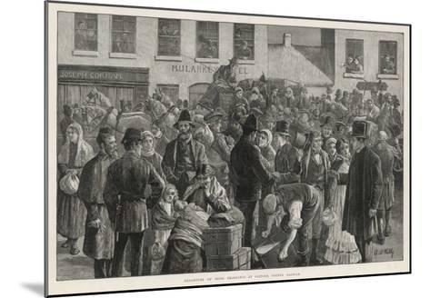 Irish Emigrants Preparing to Sail to America from Clifden County Galway-A. O'kelly-Mounted Giclee Print