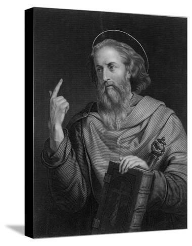 Saint Paul of Tarsus Rabbi Tentmaker Missionary Depicted Preaching--Stretched Canvas Print