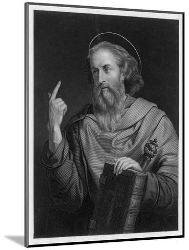 Saint Paul of Tarsus Rabbi Tentmaker Missionary Depicted Preaching--Mounted Giclee Print