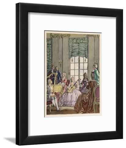 Musical Evening Chez Teresa Cornelys Italian Singer and Theatre Director in London-Auguste Leroux-Framed Art Print
