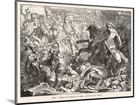 The Emperor Otto 1 Defeats the Hungarian Magyars at the Lechfeld- Sachse-Mounted Giclee Print