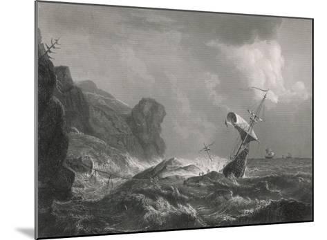 Shipwreck on a Rocky Coastline-T. Heawood-Mounted Giclee Print