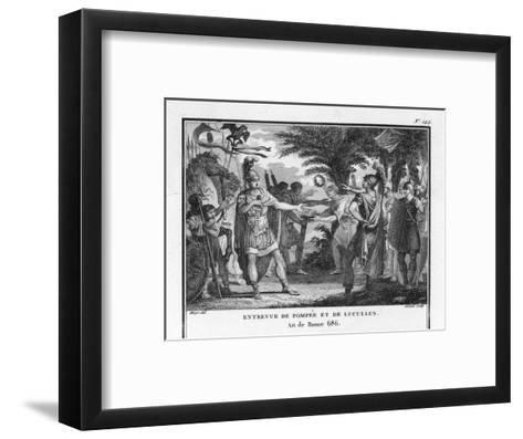 Lucullus is Replaced by Pompeius-Augustyn Mirys-Framed Art Print