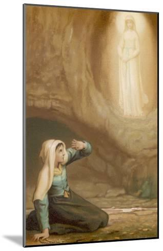 Bernadette Soubirous While Gathering Firewood Suddenly Sees the Virgin Mary in the Grotto- Laugee-Mounted Giclee Print