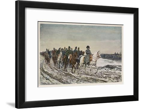 Napoleon at the Head of His Staff During the Campaign of France-Meissonier-Framed Art Print