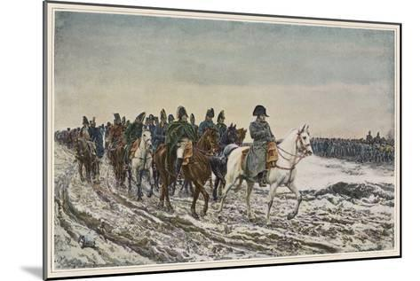 Napoleon at the Head of His Staff During the Campaign of France-Meissonier-Mounted Giclee Print