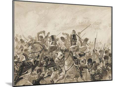 The Scots Greys and the 92nd Regiment in Action-J. Marshman-Mounted Giclee Print