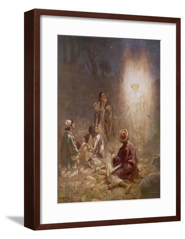 The Angel of the Lord Announces the Arrival of Jesus to the Shepherds-William Hole-Framed Art Print