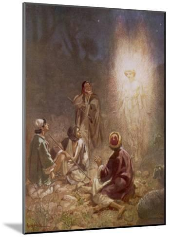 The Angel of the Lord Announces the Arrival of Jesus to the Shepherds-William Hole-Mounted Giclee Print