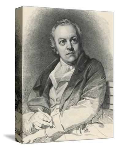 William Blake English Artist Poet and Mystic-Luigi Schiavonetti-Stretched Canvas Print