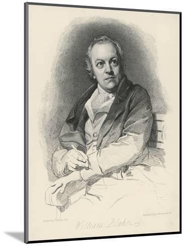 William Blake English Artist Poet and Mystic-Luigi Schiavonetti-Mounted Giclee Print