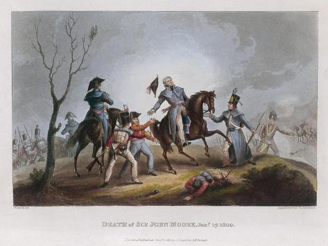 Death of Moore Corunna-W. Heath-Stretched Canvas Print