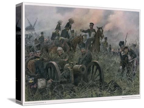 Gneisenau at the Battle of Ligny Where Napoleon Defeats Blucher's Prussians-R Knoetel-Stretched Canvas Print