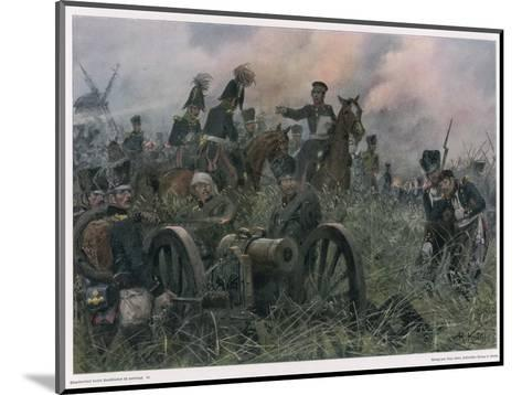 Gneisenau at the Battle of Ligny Where Napoleon Defeats Blucher's Prussians-R Knoetel-Mounted Giclee Print