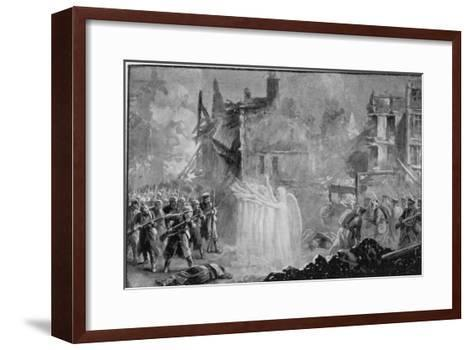 """The So-Called """"Angels of Mons"""" Halt the German Advance at Mons Belgium-Alfred Pearse-Framed Art Print"""