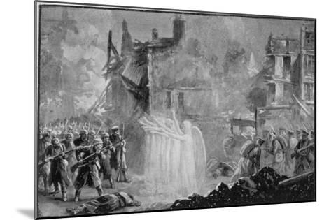 """The So-Called """"Angels of Mons"""" Halt the German Advance at Mons Belgium-Alfred Pearse-Mounted Giclee Print"""