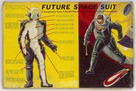 Space Suit as Foreseen in 1939-Frank R^ Paul-Stretched Canvas Print