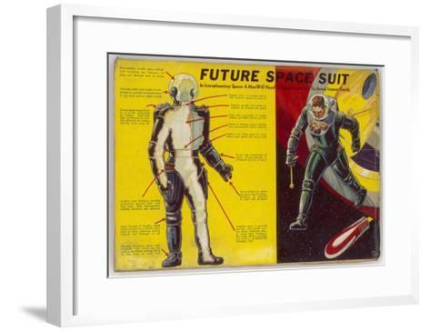 Space Suit as Foreseen in 1939-Frank R^ Paul-Framed Art Print