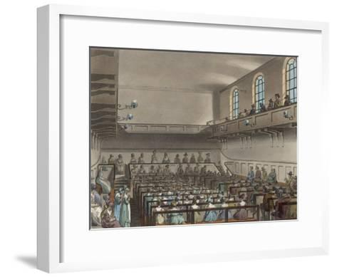 Quakers Meeting in a London Meeting-House-Thomas Rowlandson-Framed Art Print