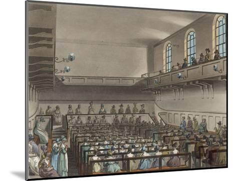 Quakers Meeting in a London Meeting-House-Thomas Rowlandson-Mounted Giclee Print