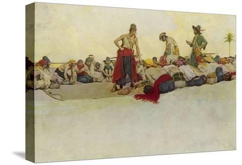Pirates Dividing the Treasure-Howard Pyle-Stretched Canvas Print
