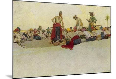 Pirates Dividing the Treasure-Howard Pyle-Mounted Giclee Print