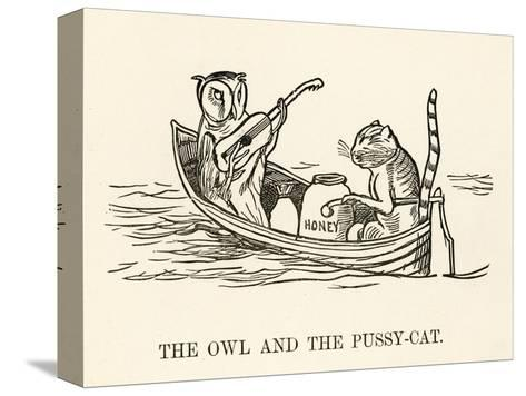 The Owl and the Pussy-Cat Went to Sea in a Beautiful Pea- Green Boat-Edward Lear-Stretched Canvas Print