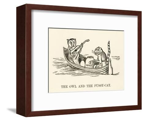 The Owl and the Pussy-Cat Went to Sea in a Beautiful Pea- Green Boat-Edward Lear-Framed Art Print
