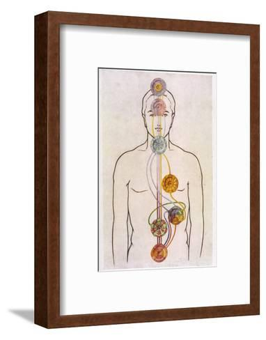 The Seven Chakras and the Streams of Vitality-C.w. Leadbeater-Framed Art Print
